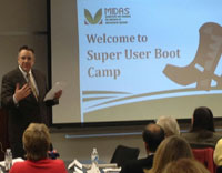 Super User Boot Camp kicks off in Washington. Acting Deputy Administrator for Farm Programs, Craig Trimm, helped kick off MIDAS Super User Boot Camp today in DC.
