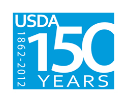 USDA 150 Year Logo, Celebrating 150 Years of Service